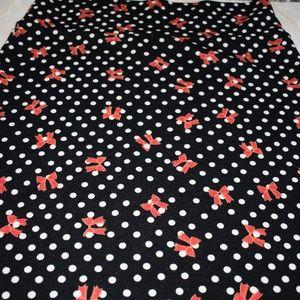 Black White Polka Dot Red Bow Pencil Skirt Lularoe